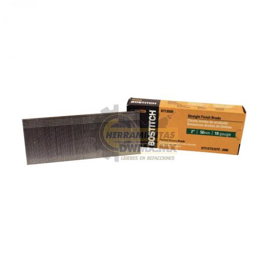Clavos rectos de acabado 2'' Calibre 18 BOSTITCH BT1350B