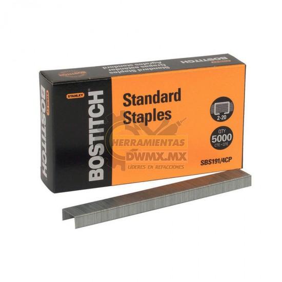 Grapas Estándar Premium 1/4'' BOSTITCH SBS191/4CP
