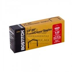 Grapa Power Crown 1/4'' B8 5000 pzas BOSTITCH STCR21151/4