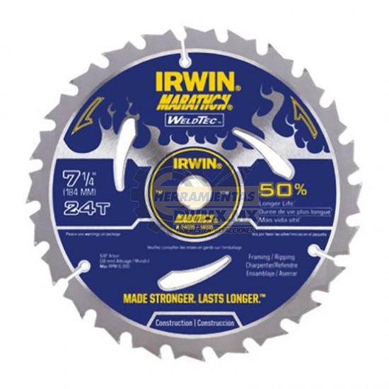 Disco Sierra Weldet 7-1/4'' x 24T IRWIN 14035