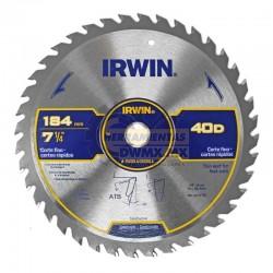 """Disco de Corte Fino 7-1/4"""" X 40T IRWIN 15230LA"""