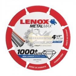 Disco Diamante CutOff 4-1/2'' x 7/8'' LENOX 1972921