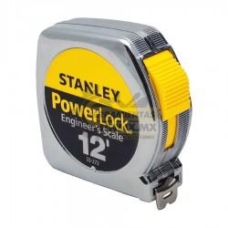 Cinta Métrica POWER LOCK 12' STANLEY 33-272