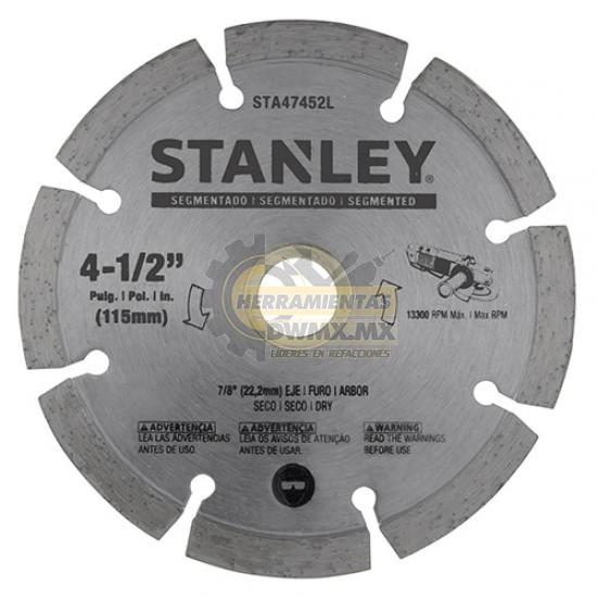 "Disco Diamantado Segmentado 4-1/2"" Stanley STA47452L"