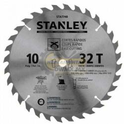 """Disco Sierra para Madera 10"""" x 32D Stanley STA7740"""