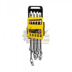 Juego de 9 Llaves Combinadas Basic Métricas STANLEY STMT78098-840