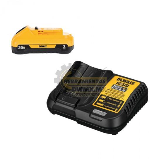 Combo Batería Compacta + Cargador 20V MÁX DEWALT DCB230C