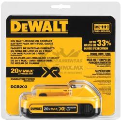 Batería de 20V Litio XR DeWalt DCB203