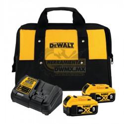 Kit Cargador + 2 Baterías 20V MÁX+ Bolsa DEWALT DCB205-2CK