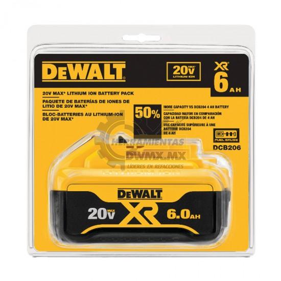 Batería de Iones de Litio 20V MÁX PREMIUM DEWALT DCB206