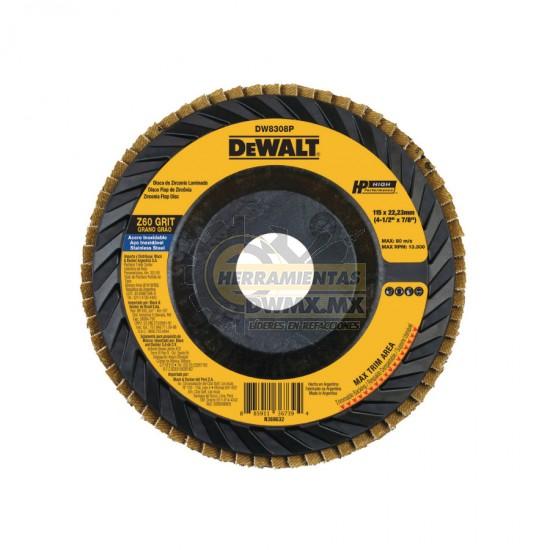 Disco Flap 4-1/2'' x 7/8'' DEWALT DW8308P
