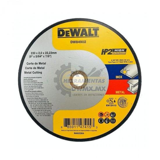 Disco Corte Metal 9'' DEWALT DW84902