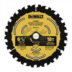 Disco para Madera Estructural 6-1/2'' x 18T DEWALT N703809 (DWA161218)